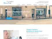 screenshot https://www.pompes-funebres-moulin-pose-18.fr/ Pompes Funèbres et Marbrerie funéraire Moulin-Posé