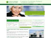 screenshot http://www.pompes-funebres-pascalleclerc-86.com pompes funèbres sur Poitiers 86