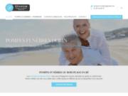screenshot http://www.pompesfunebres-dorin.com contrat prévoyance obsèques à La Rochelle