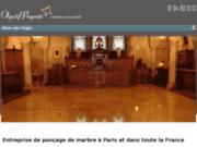 screenshot http://poncage-marbre-paris.com/ ponçage de marbre paris