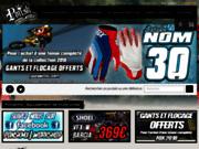 screenshot http://www.ponskmx.com/ équipements motocross