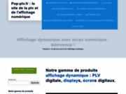 Publicite dynamique par ecran plat lcd videoplayer