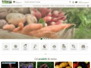 screenshot http://www.potimarron.com livraison de fruits et légumes et de produits fermiers sur le lieu de travail dans la région de rouen