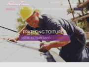 screenshot http://www.pratlong-toitures.com charpentier à Nîmes 30