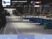 screenshot http://www.prefa-bressuirais-79.com préfabriqué béton
