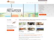 screenshot http://www.prefel.com/ prefel, matériaux pour autoconstruction