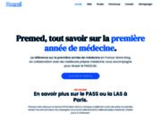 screenshot https://premed.fr Meilleure prépa médecine en Terminale