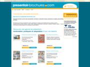 screenshot http://www.presentoir-brochures.com/ Présentoir Brochures, site de vente de présentoirs sur Internet