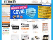 screenshot http://www.printimmo.com Imprimer des panneaux