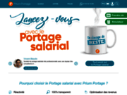 screenshot https://prium-portage.com/ Prium Portage, société de portage salarial