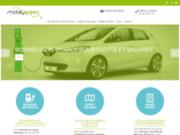 screenshot http://pro.mobilygreen.fr/ bornes de recharge pour véhicules électriques