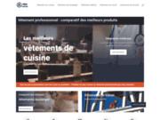 screenshot http://www.proaporter.fr/ vetements de travail