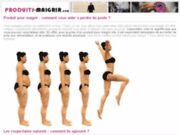 screenshot http://www.produits-maigrir.com produits pour maigrir