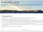 screenshot http://www.professeur-prive.fr/ professeur privé