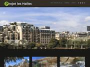 screenshot http://www.projetleshalles.fr/ réaménagement des halles