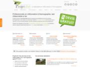 screenshot http://www.projetvert.fr opérateur mesureur en étanchéité à Besançon dans le Doubs certifié Qualibat