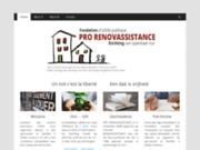 screenshot http://www.prorenovassistance.be fondation pro renovassistance