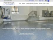 screenshot https://www.prospecspolymeres.com/ Revêtements pour plancher en béton