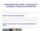 ProteinePasCher vos compléments à portée de main