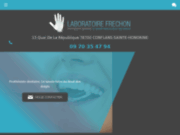 screenshot http://www.prothese-dentaire-frechon.com laboratoire frechon fabrication prothèse dentaire
