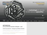 screenshot http://www.prothesiste-artdenteck.com prothèse conjointe, laboratoire à lyon