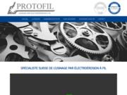 screenshot http://protofil-electroerosion.ch électroérosion