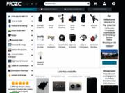 screenshot http://www.prozic.com lampes, ampoules économiques et spéciales