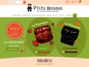 screenshot http://www.ptitsdessous.com Couches lavables P'tits Dessous