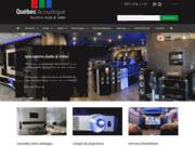 screenshot http://www.quebecacoustic.com experts en cinéma maison et projecteurs au canada