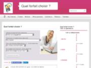 screenshot http://www.quelforfaitchoisir.info/ Quel Forfait Choisir