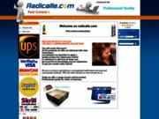 screenshot https://www.radicalle.com Boutique de vente en ligne de produits d'hygiène et d'entretien.