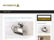 screenshot http://rapid-plomberie.com Rapid'Plomberie entreprise de plomberie et de chauffage