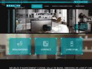 screenshot http://www.realite-agencement.fr aménagement cuisine loir et cher, salle de bains e