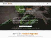 screenshot http://www.recetteminute.com recette minute