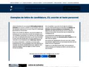 screenshot http://www.recherche-lettre.com recherche lettre