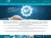 screenshot http://www.referentiel-unassi.fr/ logiciel d'évaluation interne de la qualité ssiad