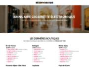 screenshot https://reservoirvide.fr annuaire cigarette électronique