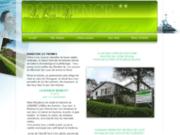 screenshot http://www.residence-aubonair.com résidence de location de meublés au bon air