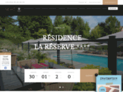 screenshot http://www.residence-la-reserve.com urban café à ferney