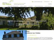 screenshot http://www.residence-lescedres.com logement pour personnes âgées
