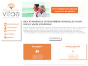 screenshot http://www.residencesvitae.com Résidences sénior Vitaé
