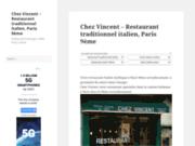 screenshot http://www.restaurant-chez-vincent.com/ restaurant italien paris 9