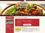 screenshot http://www.restaurant-la-flambee.com/ traiteur-restaurant pour mariage 59: la flambée