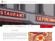 screenshot http://www.restaurant-laptitefringale.com/ restaurant traiteur la p'tite fringale