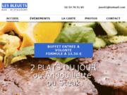 screenshot http://www.restaurant-lesbleuets.com Restaurant Les Bleuets