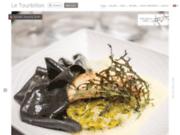 screenshot http://www.restaurant-letourbillon.com/ restaurant gastronomique français à paris 5e chez le tourbillon.