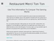 screenshot http://www.restaurant-mercitonton.com/ merci tonton: restaurant à avignon avec terrasse et jardin. cuisine inventive