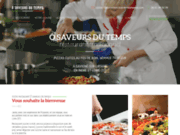 screenshot https://www.restaurant-osaveursdutemps.com/ restaurant pizzeria traiteur à Savigné sur Lathan 37340