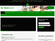 screenshot http://www.resto-sainte.fr Guide des restaurants de Saint-Etienne
