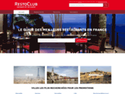 screenshot http://www.restoclub.fr restoclub.fr : guide des restaurants
